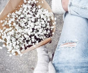 flowers, white, and indie image