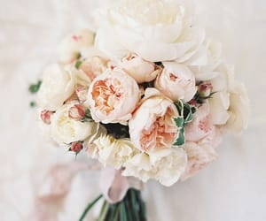 wedding, wedding bouquet, and blush wedding image