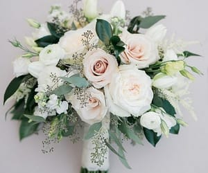wedding, wedding bouquet, and blush wedding theme image