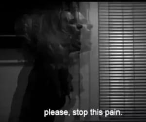 pain, stop, and sad image