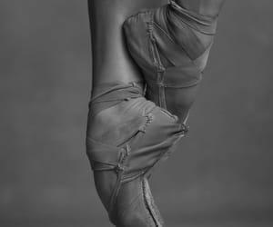 b&w, ballerina, and dance image