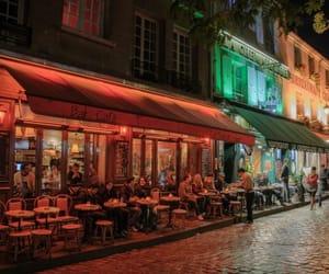 cafe, paris, and street image