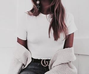 accessories, beige, and black jeans image