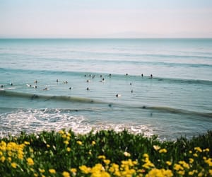 people, sea, and summer image