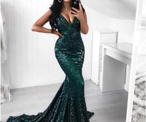 fashion, prom dress, and prom gown image