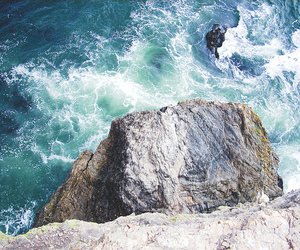 ocean, photography, and rocks image