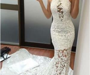 fashion, lace dress, and prom dress image