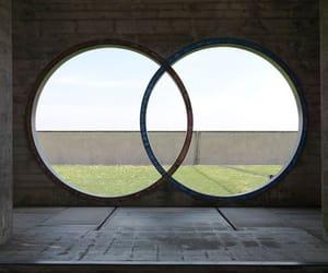 architecture, circle, and geometric image