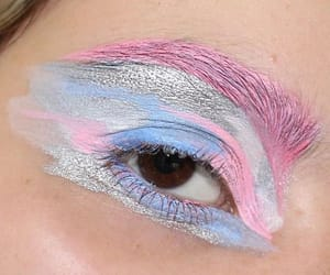 makeup, aesthetic, and blue image