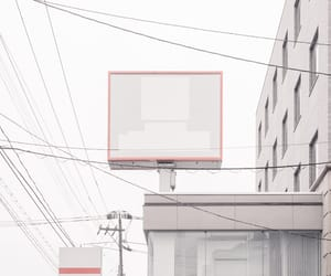 city, powerline, and pink image