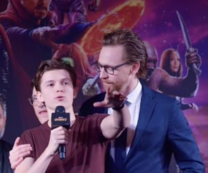 tom hiddleston and tom holland image
