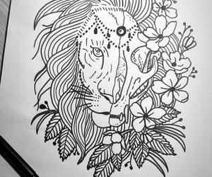 drawer, lion, and tattoo image
