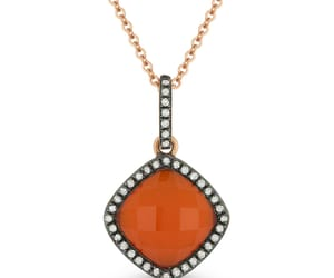 chain necklace, diamond, and pendant image