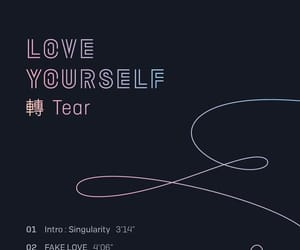 bts, tear, and love yourself image