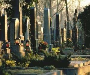 cemetery, grave, and dead image