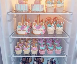 unicorn, cake, and yummy image