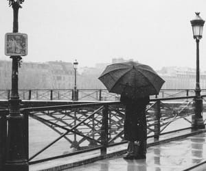 black and white, photography, and rain image