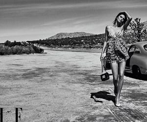 black and white, Elle, and fashion image