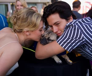 couple, puppy, and cute image