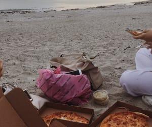 beach, dinner, and girls image