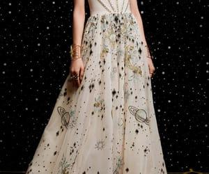 dress, galaxy, and 2018 image