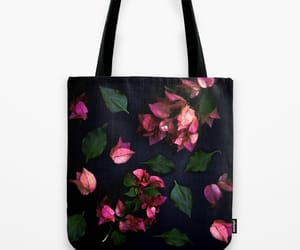 bag, flower, and bougainvillea image