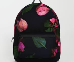 backpack, flowers, and pink image
