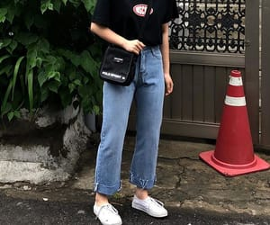 clothes, grunge, and korean fashion image