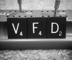 black and white, letters, and vfd image