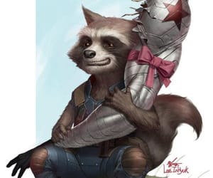 Marvel, rocket raccoon, and guardians of the galaxy image