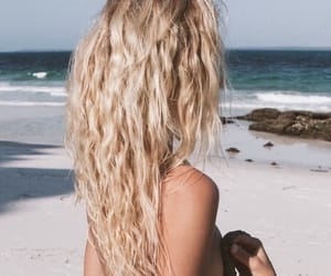 blonde, hair, and beach image