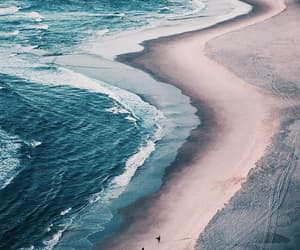 beach, ocean, and theme image