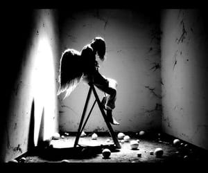angel, sad, and wings image