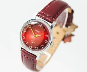 etsy, modern men watch, and red face watch image