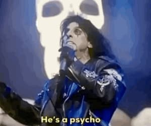 gif, alice cooper, and metal music image