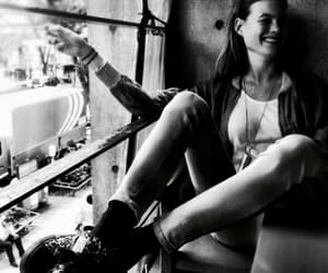Behati Prinsloo, model, and black and white image