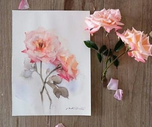 aesthetic, flower, and watercolor image