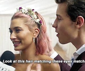gif, hailey baldwin, and shawn mendes image