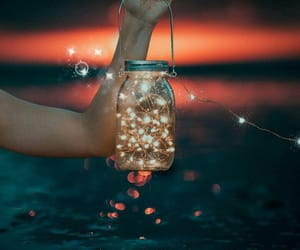 lights, summer, and love image