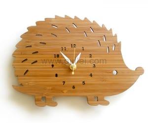 hedgehog, wall clocks, and housewarming image