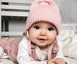 baby, pink, and outfit image