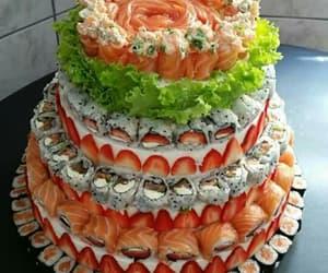 sushi, food, and cake image