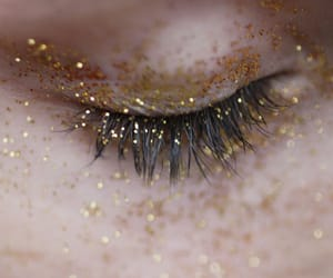 glitter, eye, and gold image