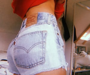 jeans, short, and levi's image