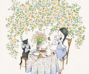 cat and tea image