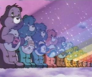rainbow, cartoon, and carebears image