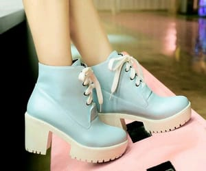 baby blue, boots, and blue boots image