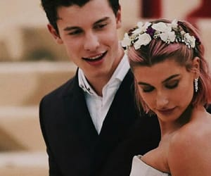 shawn mendes, hailey baldwin, and couple image