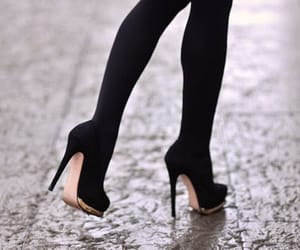 black, high shoes, and louboutin image