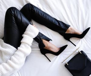 black, high shoes, and preto image